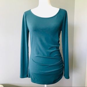 Banana Republic Teal Ruched-Side Tunic